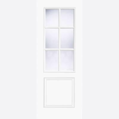 Pre Finished White Clear Glazed Smooth Bruges Moulded Door  ...