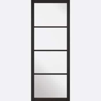 Black Primed Soho Glazed Internal Door