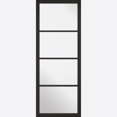 Black Primed Soho Glazed Internal Door  - Door Size, HxW: ...