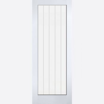 White Moulded Textured Vertical 1 Light