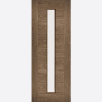Pre-finished Walnut Sofia Glazed Internal Door
