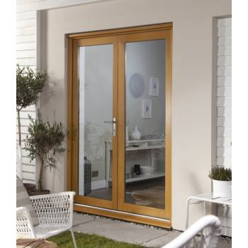 Wooden Timber Oak French Doors Patio External Glazed Smoothfold 1790x2090mm