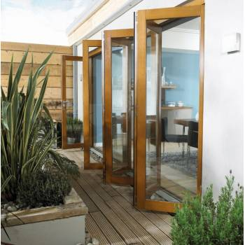 Oak Folding Sliding Bifold Trifold French Patio External Doors 4.8m 16ft Oakfold