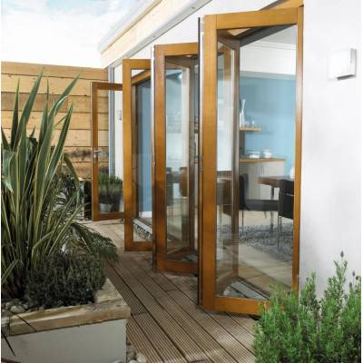 Oak Folding Sliding Bifold Trifold French Patio External Doo...