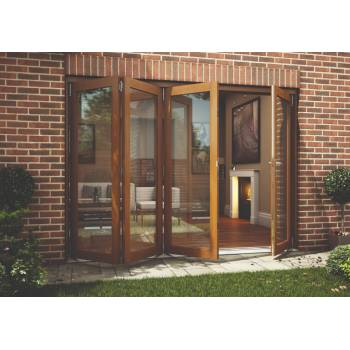 Oak Folding Sliding Bifold Trifold French Patio External Doors 3.0m 10ft Oakfold
