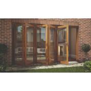 Oak Folding Sliding Bifold Trifold French Patio External Doors 3.6m 12ft Oakfold