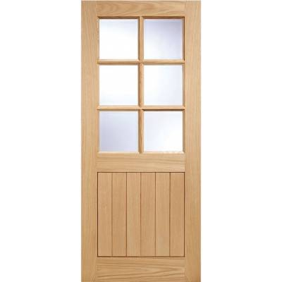 Oak Cottage 6 light External Door Wooden Timber - Door Size,...