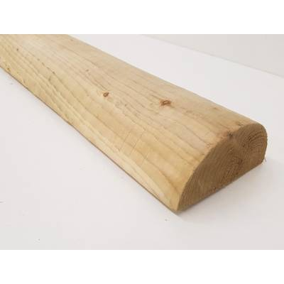 """100mm 4"""" Half Round Pressure Treated Pole Timber - Leng..."""