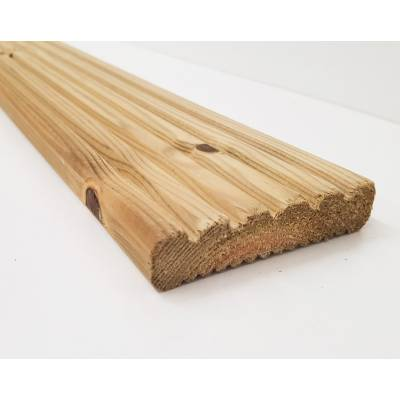 Timber Wood Economy Grooved Decking Board 2.4m 94x20mm ...