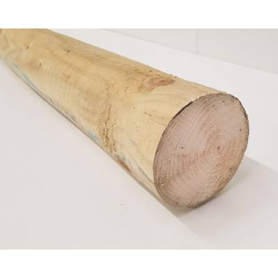 """100mm 4"""" Round Pressure Treated Pole Timber - Length: ..."""