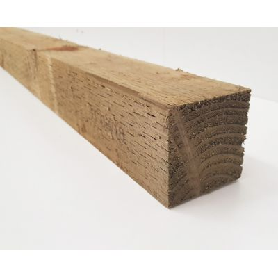 Treated Timber Sawn Posts, Fencing Decking Joist 75x75mm 3x3...