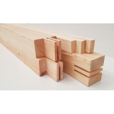 Garage Door Frame Kit 90x65mm Planed Timber Wooden Softwood ...