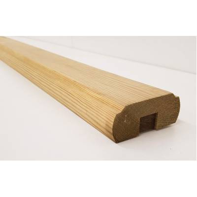 Timber Wood Decking Handrail Baserail Garden Wooden 2.4m ...