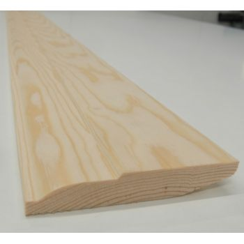 Skirting Timber Ovalo Chamfer Dual Sided Softwood Pine 120x20mm 5""