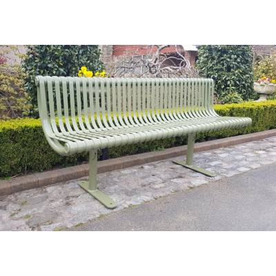 Garden Park Bench Seat Heavy Duty Outdoor Metal Public Stree...