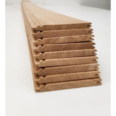 Oak Matchboard Timber 10 Pack Beaded Cladding Wooden Wainsco...