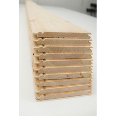 Matchboard Pine Timber Beaded 10 pack Cladding Wooden Wainsc...