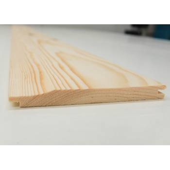 Shiplap Timber Softwood Pine T&G Untreated Shed Cladding Board 112x12mm