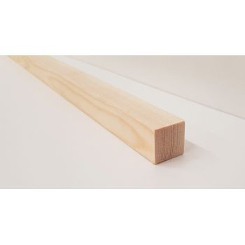 Planed Smooth Timber Wood Softwood Pine PSE PAR Various Lengths 21x21mm 1x1""