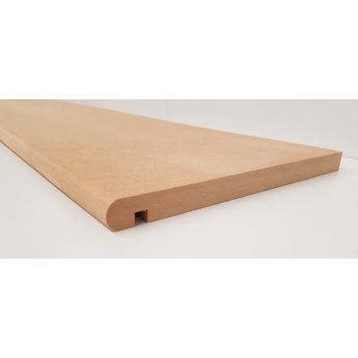 MDF Stair Tread  295x22mm Bullnosed Board Internal Nosing Ti...