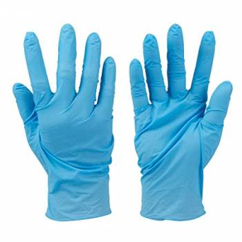 Disposable Gloves Large Medium Blue Latex Powder Free Non Sterile Nitrile