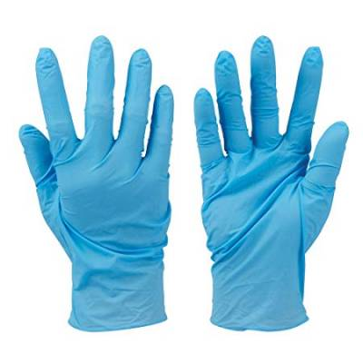 Disposable Gloves Large Medium Blue Latex Powder Free Non St...