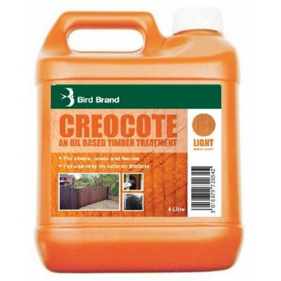 Creocote Oil Timber Treatment Sawn Smooth Timber 4L Light Da...
