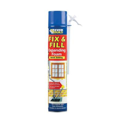 Fix And Fill Expanding Foam Quick Setting Everbuild Aerosol ...