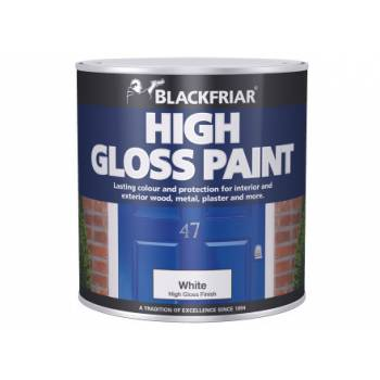 High Gloss Paint Hardwearing Interior Exterior Wood Metal Plaster Durable White