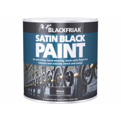 Satin Black Paint Hard Wearing Interior Exterior Metal Wood ...