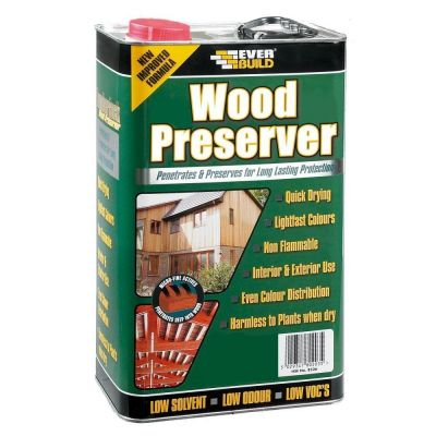 Wood Preserver Solvent Wood Joinery Clear Preserve Pre Treatment Stained 5L - Colour: