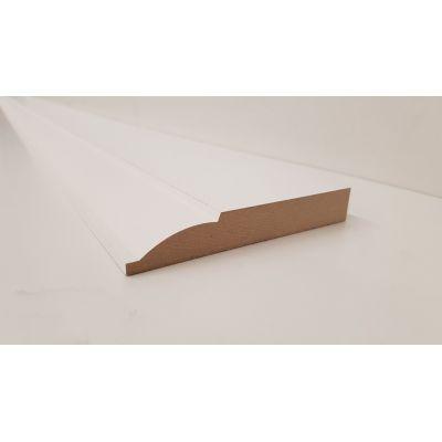 Skirting Ovalo MDF Board Primed Various Lengths 120x18mm  La...