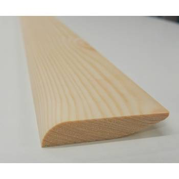"""Bullnose Chamfer Dual Sided Skirting Timber Softwood Pine 69x16mm 3"""""""