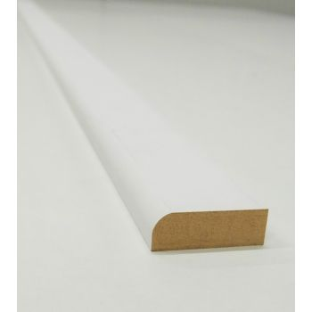 Architrave Bullnose MDF Primed Various Lengths Door Frame 44x16mm
