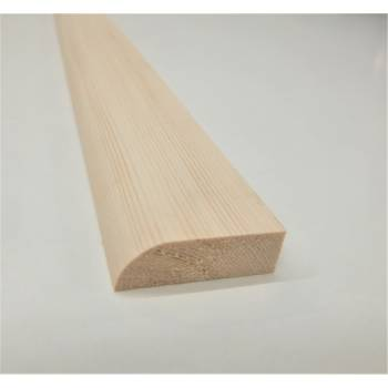 Architrave Timber Wood Bullnose Softwood Pine Various Lengths 44x16mm 2""