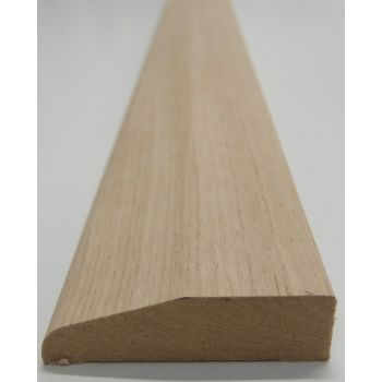 Architrave Chamfer Rounded White Oak American Veneered MDF Chamfered 68x18mm