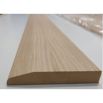 119x18mm Chamfer Skirting White Oak Veneered