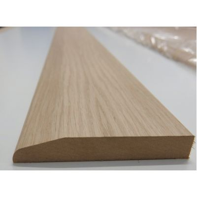 Skirting Rounded Chamfer White Oak American Veneered MDF Cha...