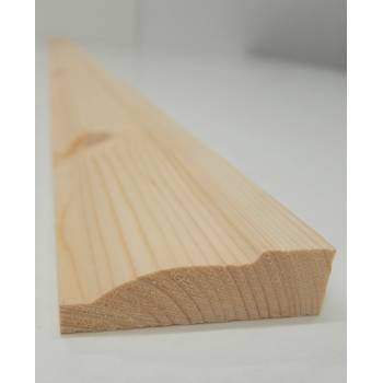 """Architrave Ovalo Timber Softwood Pine Various Lengths 69x20mm 3"""""""