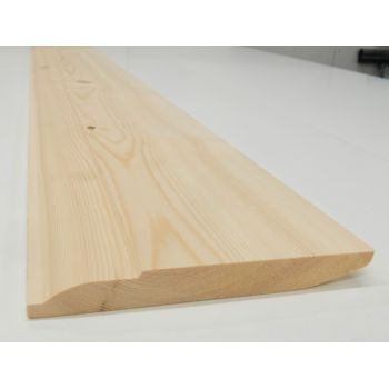 Skirting Timber Ovalo Chamfer Dual Sided Softwood Pine 167x20mm 7""