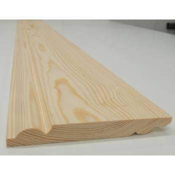 Skirting Timber Torus Ogee Dual Sided Softwood Pine 167x20mm 7""
