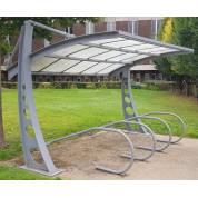 Shelter Cycle Bike Rack Smoking Team Bi-Port Shed Parking Cover Outdoor Metal