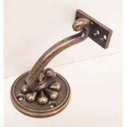 Stair Mopstick Handrail Bracket Antique Brass Petal Richard Burbidge ABPWB Round