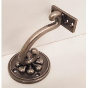 Stair Mopstick Handrail Bracket Pewter Petal Richard Burbidge PEPWB Round Mount