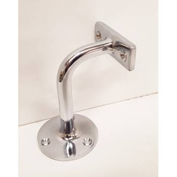 Chrome Handrail Bracket Stair Banister Wall Mounted Support Hand Rail