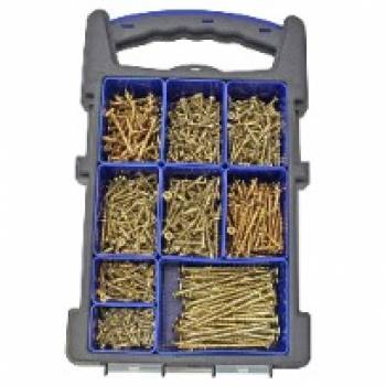 Screw Organiser ForgeFast Elite Performance Wood 1000 Piece Mixed Pozi