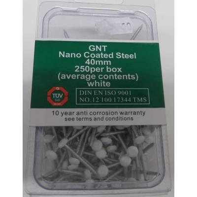 Nano Coated Steel Nail Nails White Fascia Poly Plastic Head ...