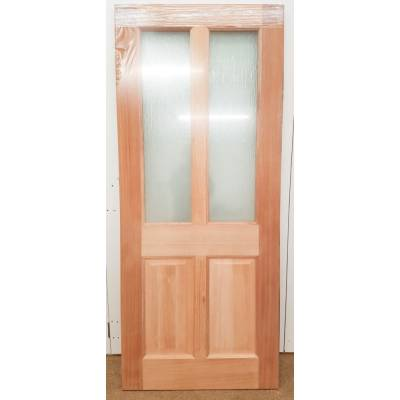 Taylor Victorian Hardwood External Door 2 Panel Double Glaze...