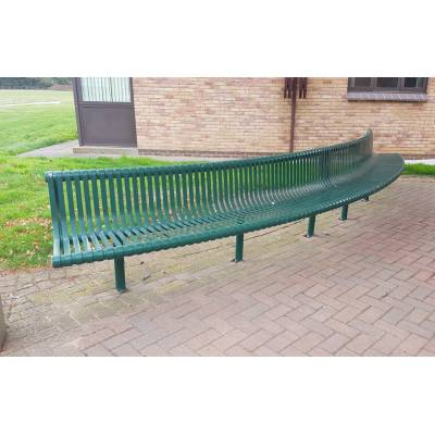 Bench Seat Garden Park Metal Outdoor Public Street Large Cur...