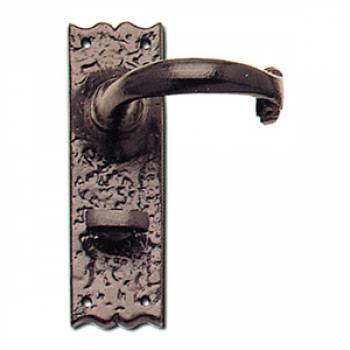Wessex Door Handle Lever Lock Latch Black Antique Plate